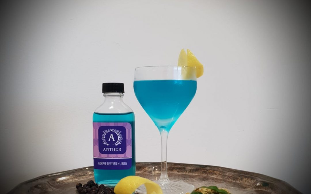 Introducing our newest bottled cocktail, the Corpse Reviver No. Blue!